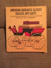 American Carriages, Sleighs, Sulkies, And Carts By Berkebile Transportation Book