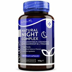 Natural Night Complex – 120 Vegan Capsules - Sleep Supplement Relaxation Stress