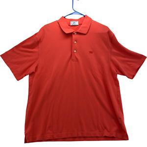 Southern Tide Men's Short Sleeve Polo Shirt Size M Medium 38 Orange Cotton