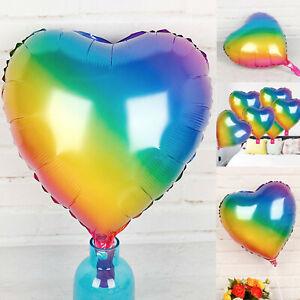 Rainbow heart balloon mardi gras gay pride happy LGBTQ LGB Lover party balloons