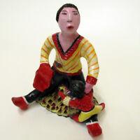 """MARIA MURGIA - """"Il padre"""" - scultura in terracotta dipInta a mano + Archivio"""