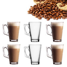 Latte Glasses Cappuccino gls Tassimo Costa Cups Pack Of 6 Mugs UK FOOD Approved