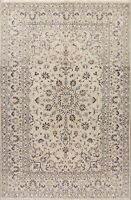 Ivory Floral Ardakan Hand-Knotted Oriental Area Rug 6'x10' Dining Room Carpet