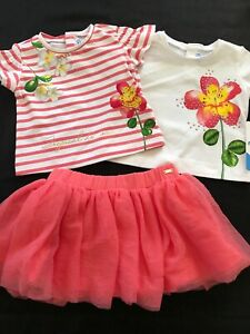 Mayoral NWT 3-Piece Tropical Dreams 2 Tops & Tulle Skirt - 6 Months
