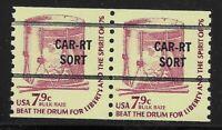 US Scott #1615Va, PAIR 1976 Beat the Drum 7.9c FVF MNH