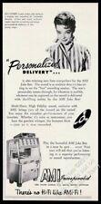 1956 AMI G jukebox Jill Corey photo vintage print ad