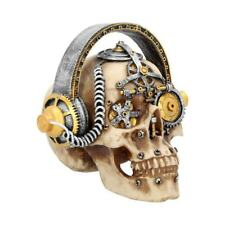 More details for techno talk large 19cm skull figurine