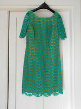 BODEN NWT Summer Lace Dress - Green/Yellow - UK 12 L
