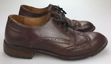 Banana Republic Liam Wingtip Men's 9.5 M Brown Leather Wing Tip Oxfords Shoes