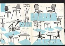 N°5782 / dépliant Ets TERRASSE Lyon chaises et tables design   1962 environ