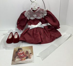 American Girl Samantha Christmas Story Dress, Pa:phlegm, Ribbon & Shoes