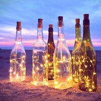 6 Stk 20LED Kork geformte LED Lichterkette Flaschenkorken Flaschenbeleuchtung DE