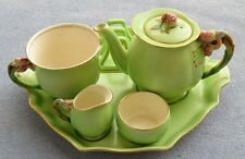 Royal Winton Tiger Lily Green 6-Piece Breakfast Tray Set