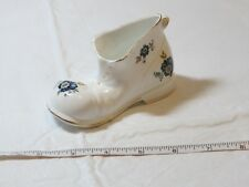 Royal Tara Irish Fine Bone China Handmade in Galaway Ireland Boot Blue flowers !