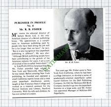 C7913) Mr R B Fisher Author Sphere Books Ltd McGraw-Hill - 1967 Cutting