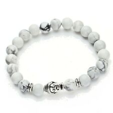 Buddha Zen Buddhist Prayer Bead Stretch Bracelet (White) Buddha Bracelet