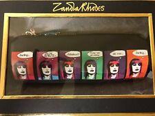 Designer Black Barrel Cosmetic Make up Bag Gift Boxed Christmas ZR Zandra Rhodes