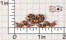 Copper Plated Brass 1463co2 2 Crinkle Bow Stampings Ox