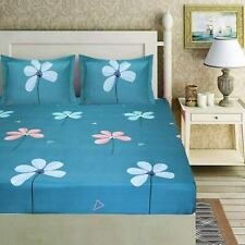 Microfiber Collection  Microfiber Double Bed Sheet with 2 Pillow Covers