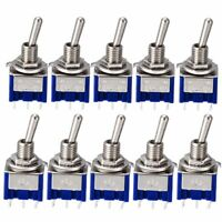5pcs/10pcs MTS-202 6A 125V AC 6-Pin DPDT ON-ON Mini Toggle Switch Switches Tool