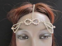WOMEN SILVER HEAD CHAIN FASHION JEWELRY GRECIAN CIRCLET BEADS INFINITY CHARM HOT