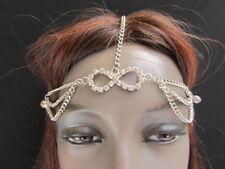 NEW WOMEN SILVER HEAD BODY CHAIN FASHION JEWELRY GRECIAN CIRCLET SILVER BEADS