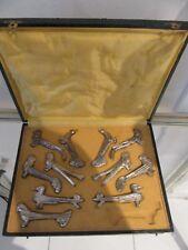 10 portes couteaux métal argenté (alliage) animaux Argit art deco knife rests