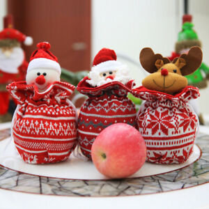 New Christmas Candy Bag Doll Gift Bag Christmas Snowman Santa Elk Bear Apple Bag