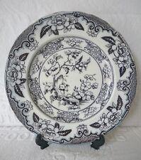 RARE ANTIQUE c1820 Charles Meigh CEYLON Flow Blue Plate