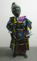 """VINTAGE TRADITIONAL HANDMADE AFRICA AFRICAN WIRE FRAME DOLL 12"""""""