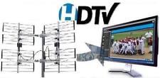 8-BAY MULTI-DIRECTIONAL OUTDOOR HDTV UHF DTV ANTENNA + HD TV SPLITTER 8BAY OTA