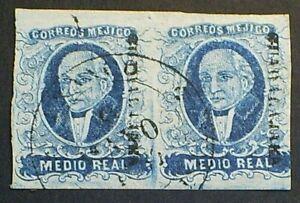 Mexico,1856,Scott#1,Used F-VF