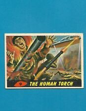 1962 MARS ATTACKS Nice Condition Alien Space War Card #9 The Human Torch