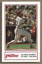 1985 MIKE SCHMIDT Philadelphia Police / Cigna Series Card # 4