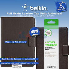 Belkin Full Grain Leather Tab Folio Universal 7 and 7.9-inch Tablets  Brown New