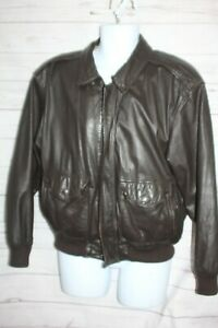 American Born Type A-2 Flight Jacket Army Air Force Brown Leather Bomber Medium