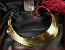 RIVER ISLAND. RETRO DECO STYLE GOLD TORQUE CHOKER NECKLACE. TICKET PRICE £12 (A)