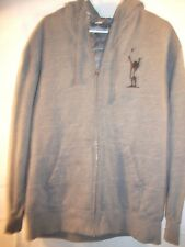 ADREANLINE mens gray long sleeve quilted zip front hoodie jacket size L