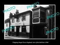 OLD LARGE HISTORIC PHOTO CHIPPING ONGAR ESSEX ENGLAND THE BELL INN c1940