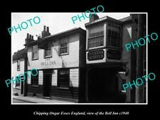OLD LARGE HISTORIC PHOTO CHIPPING ONGAR ESSEX ENGLAND, THE BELL INN c1940