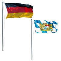 LEX Fahnenmast 620 cm inkl. Deutschland- und Bayern-Fahne