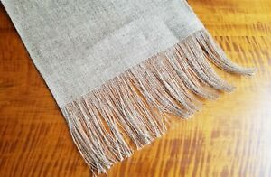 """Plain Natural Burlap Table Runner with 6"""" Fringed Ends UNLINED - Various Sizes"""