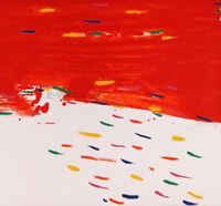 HSIAO CHIN 2010 Nuvola rossa serigrafia originale   bellissima 100 x 140 cm