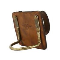 TOURBON Leather Axe Handle Holster Tools Hatchet Belt Metal Loop Camping Brown