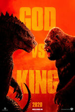 Godzilla vs Kong 2020 Movie Fabic Silk Poster 24*36In Wall Home Decor