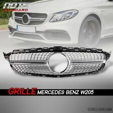 US Diamond Grille For Mercedes Benz W205 New C class c250/300 c400/450 AMG Sport