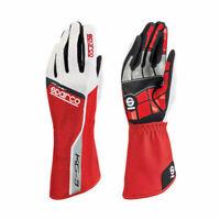 SPARCO TRACK KG-3 Handschuhe Rot/Weiß Größe 7 - Karthandschuhe - Karting Gloves