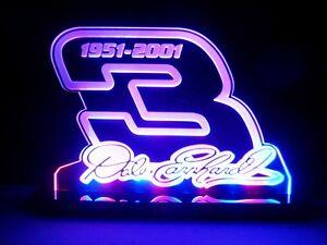 Dale Earnhardt 3 signature Nascar#3 LED Lamp Neon Light Room Decor Garage Signs