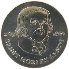DDR 20 Mark 1985 125. Todestag Ernst Moritz Arndt Silber Gedenkmünze STGL