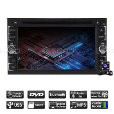 "6.2"" Car Stereo Audio Cd Dvd Player Mp5 Radio In-dash Mirror Aux 2 Din w/ Camera"